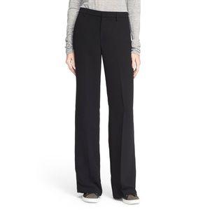 VINCE Wide Leg Black Trousers Pants Sz 8 Long